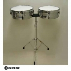 "Timbal EXTREME TIMBALES TROPICALES 13"" X 6.5"" Y 14"" X 6.5"" CROMADAS  EXTL001 - Envío Gratuito"